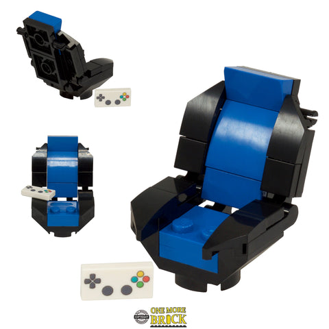 Blue Gaming Chair with Keypad