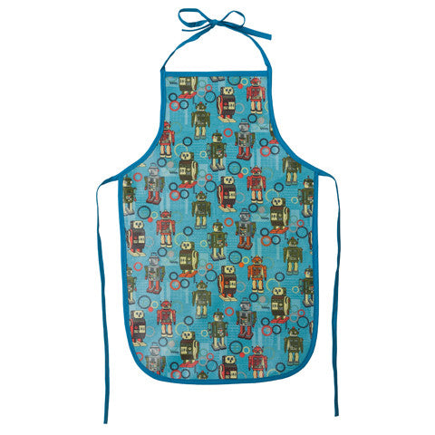 Lou Harvey Kids Apron - Robot - Lou Harvey Australia