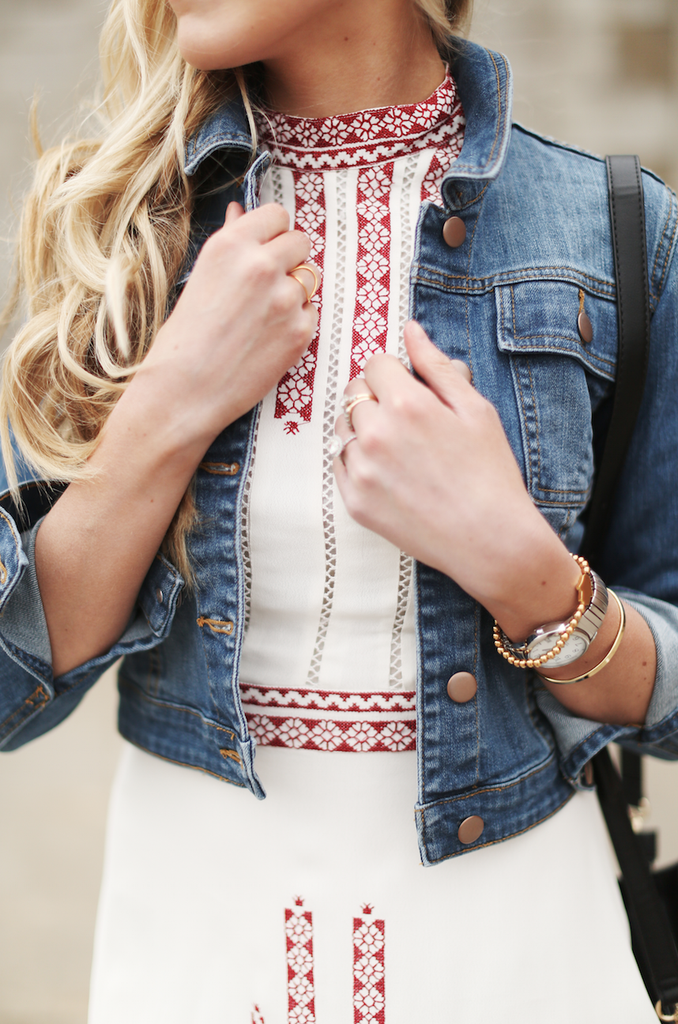 Denim Jacket & Golden Details
