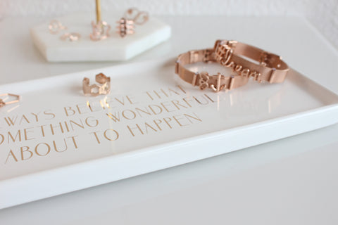 Rose gold jewelry