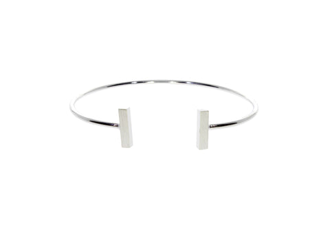 Audaviv: Silver T Bangle by ZOECA