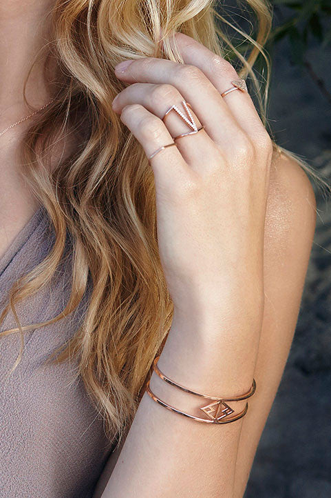 Zoeca Rose Gold Trendy Stacking Ring