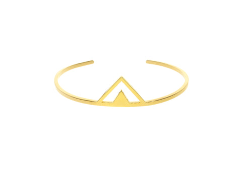 Audaviv: Gold Pyramid Bangle by ZOECA
