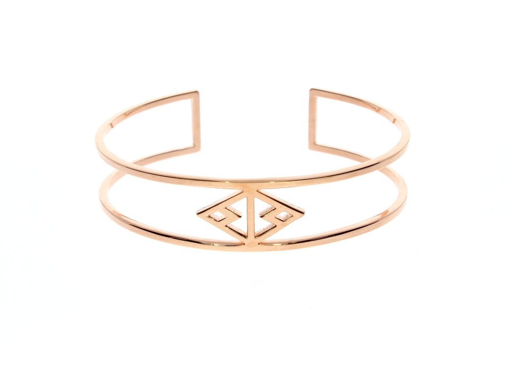 Zoeca As Seen in Vogue Rose Gold Bangle