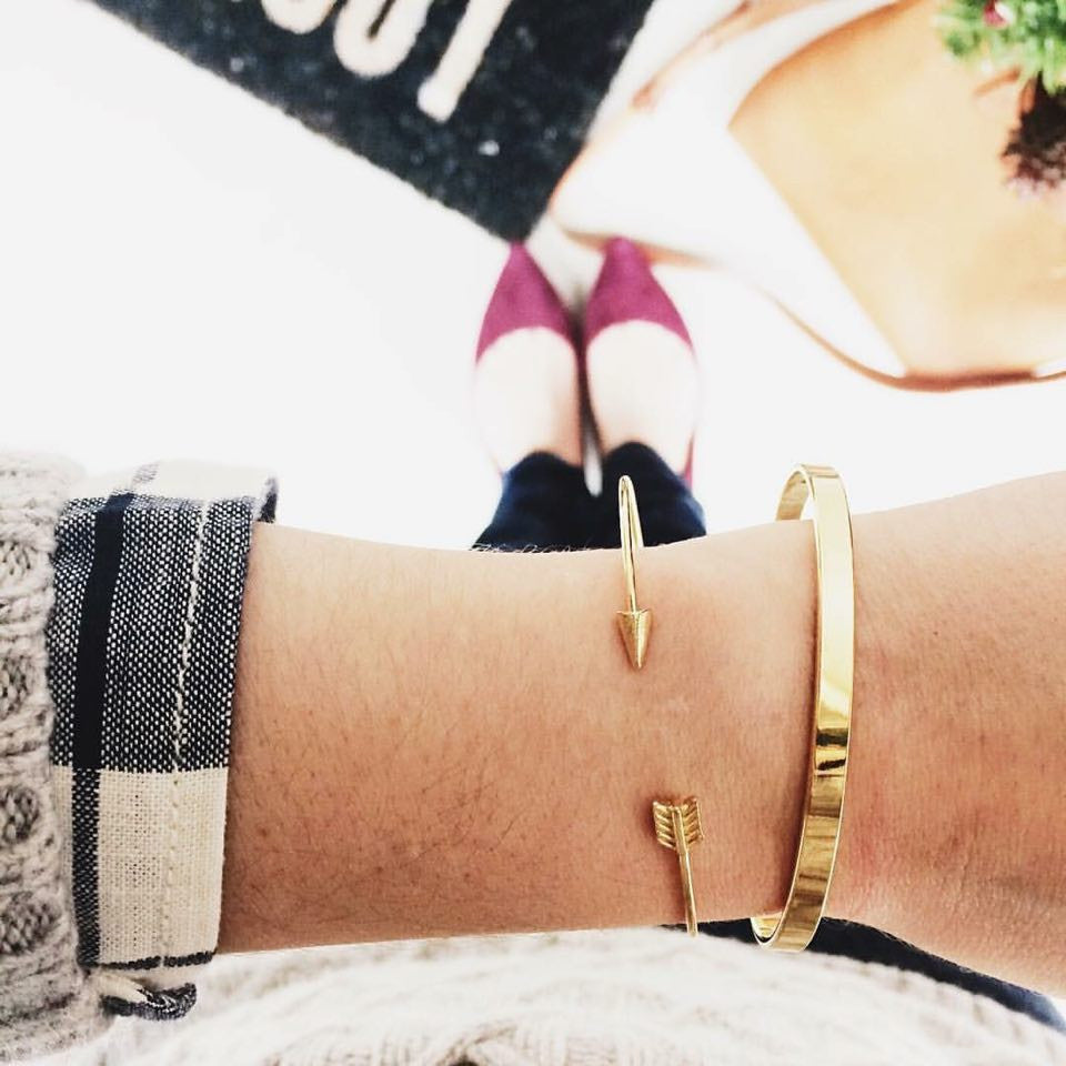 TomShot Bangle Bracelets Gold