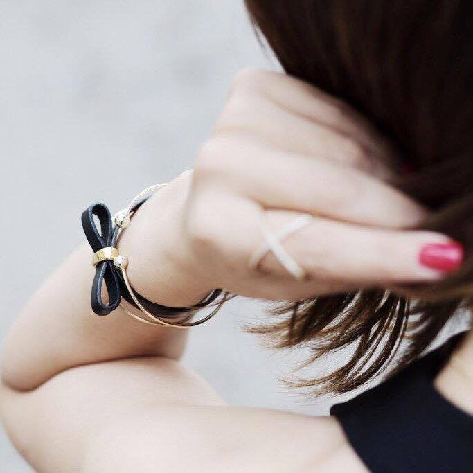 Bow Leather Bracelet Ariane Jewels