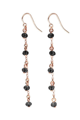 TomShot Rose Gold Swarovski Earrings
