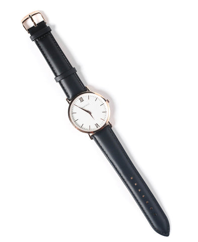 Maruxi Black & Rose Gold Fashion Watch via Audaviv