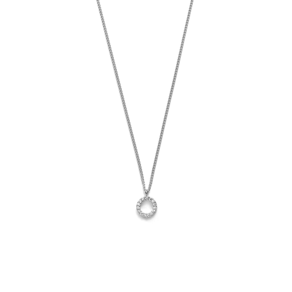 Lesvar Circle Petite Silver Necklace via Audaviv Shop