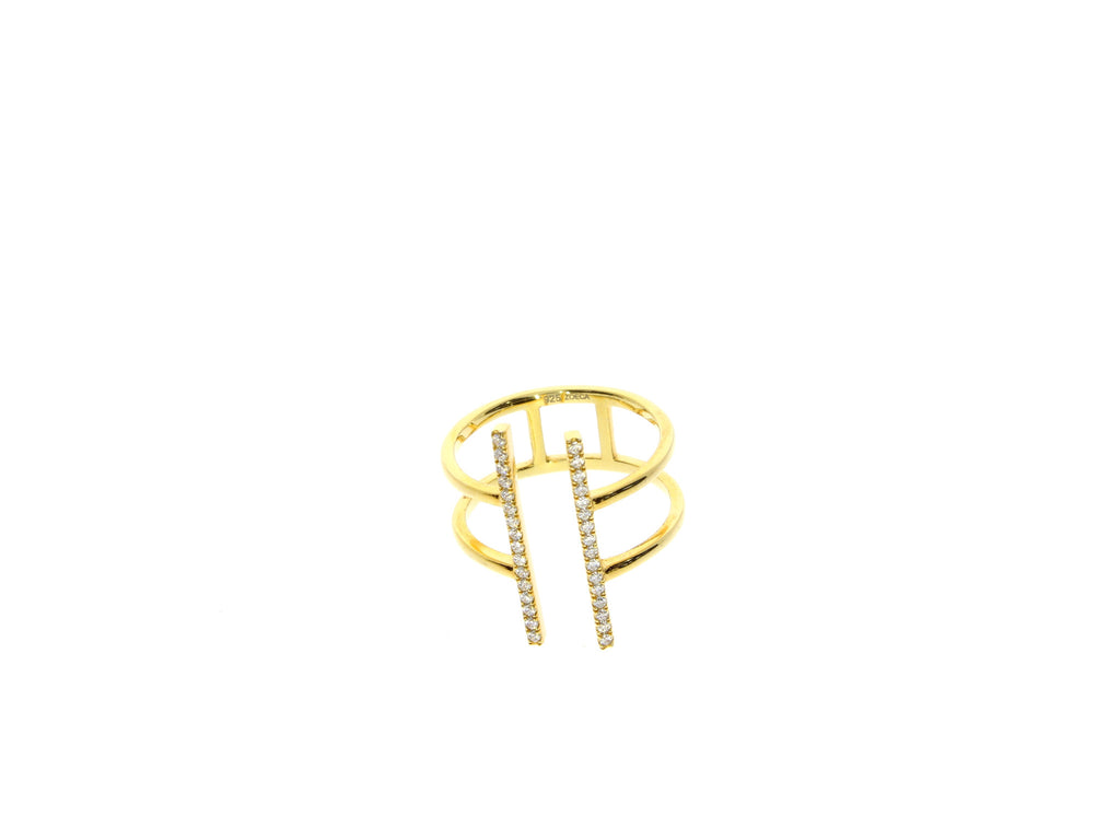 Zoeca Gold Stacking Bar Ring