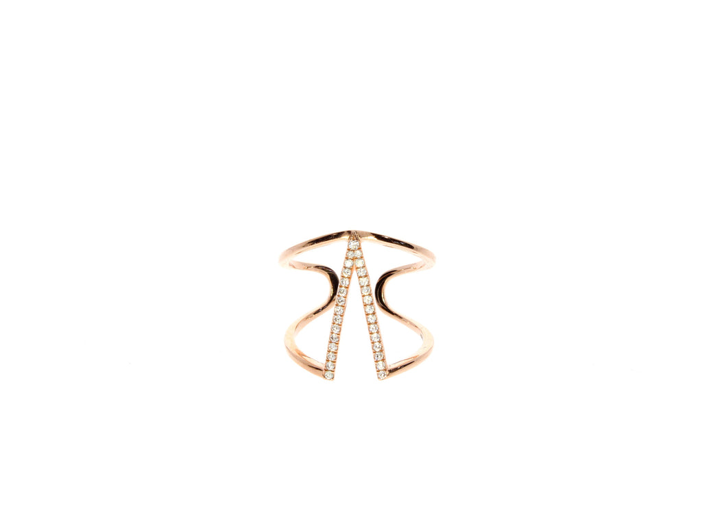 Rose Gold Zirconia Stacking Ring