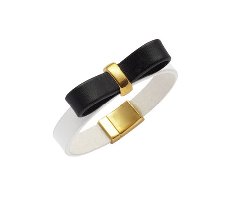 Ariane Black & White Bow Bracelet