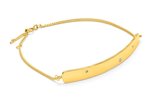 Louise Kragh Raw Diamond Bracelet Gold
