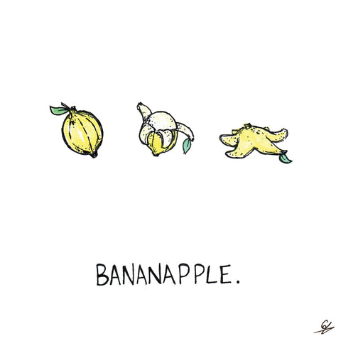 Bananapple Greeting Card