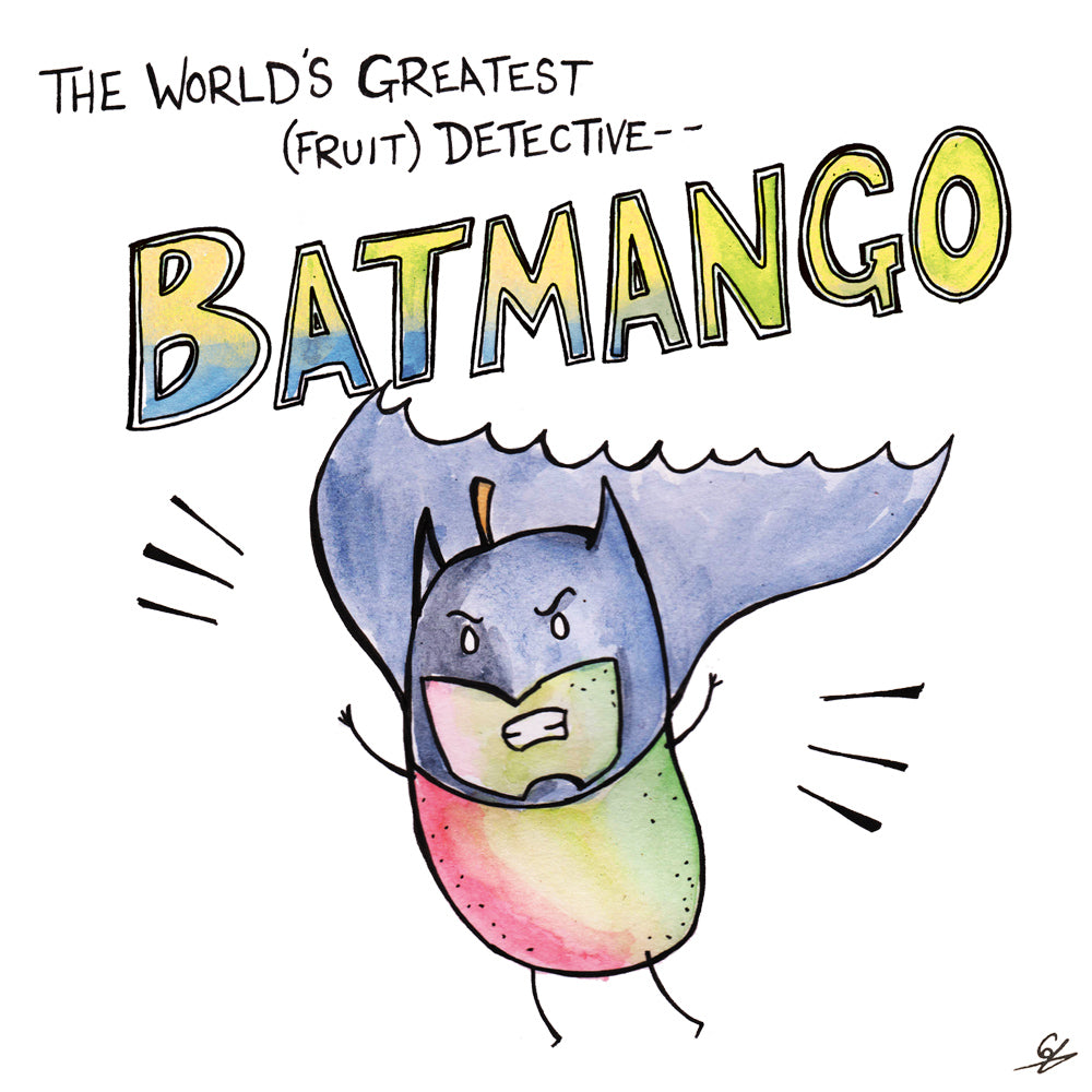 The world's greatest (fruit) detective -- Batmango