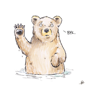 Waving Bear saying 'Bye'