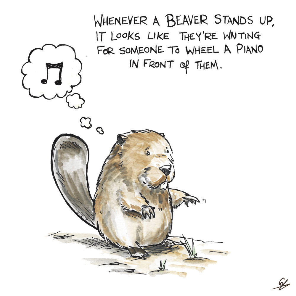Whenever a Beaver stands up, give them a piano.