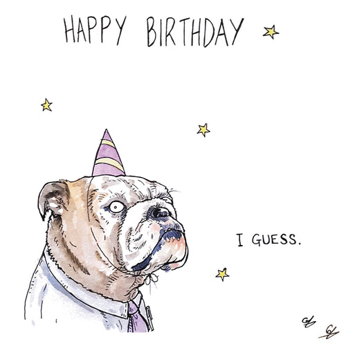 Bulldog Birthday Greeting Card