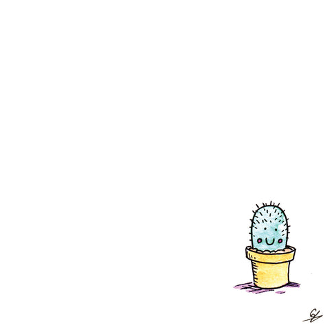 Little, smiling cactus Greeting Card