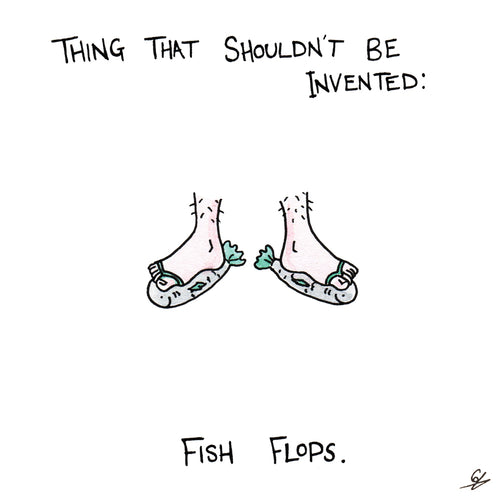 Fish Flops Greeting Card