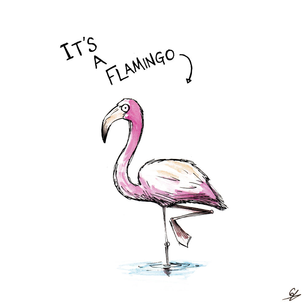 It's A Flamingo Card