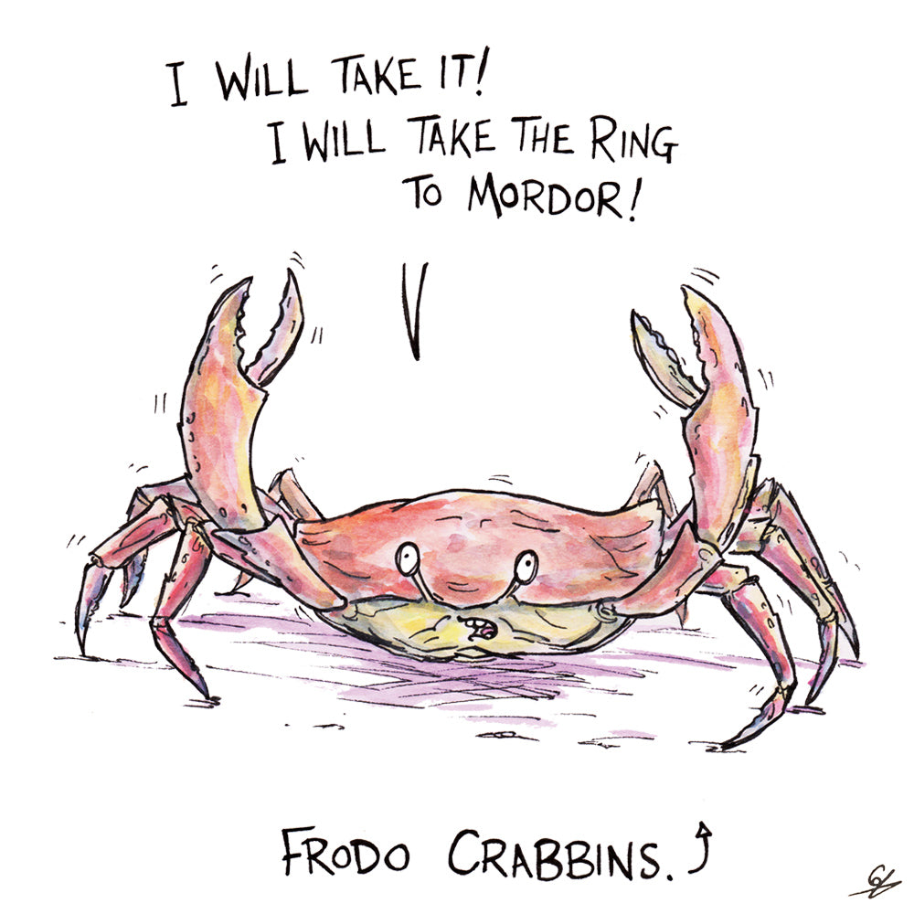 A crab saying