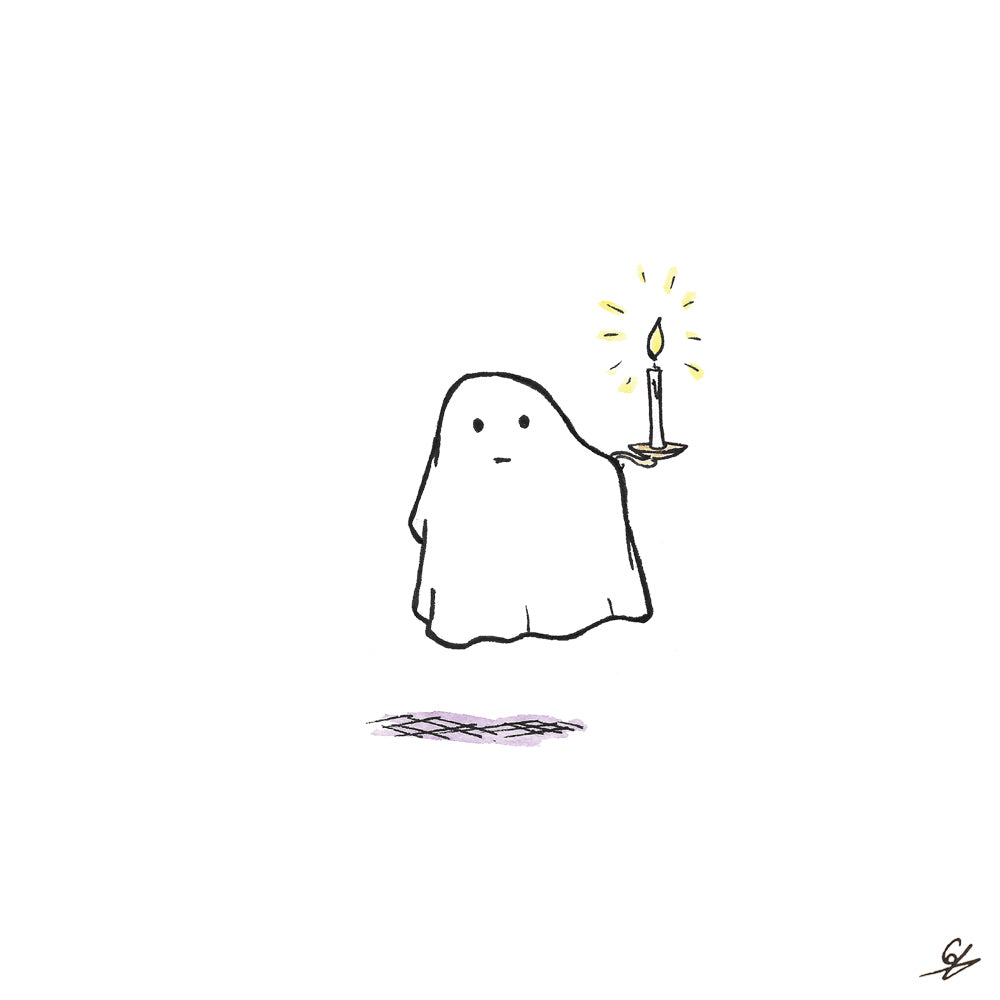 Ghost holding a Candle