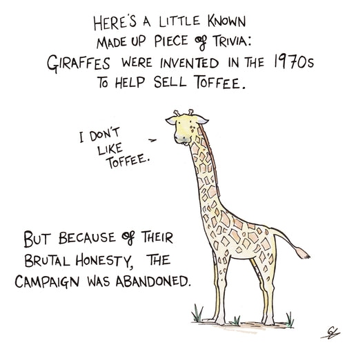 Giraffes don't like Toffee