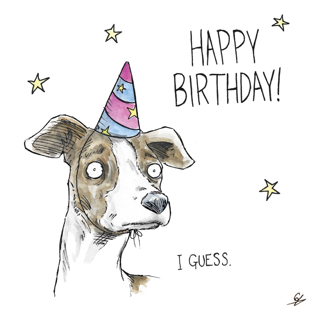 A greyhound - Happy Birthday! I Guess.
