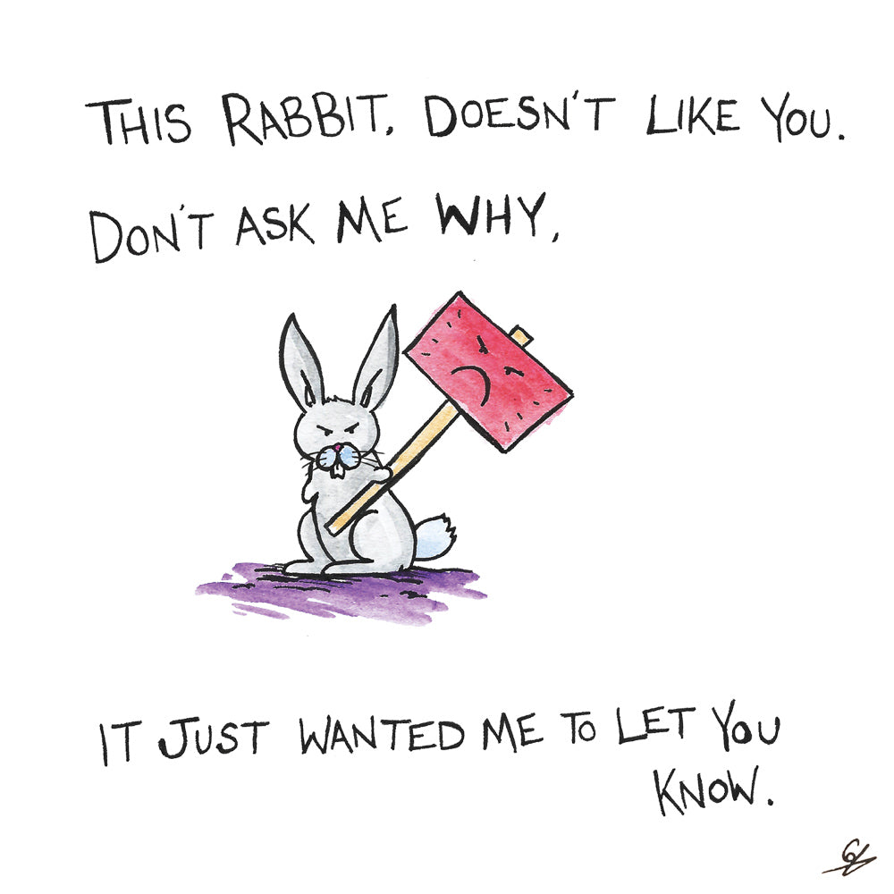 This Rabbit doesn't like you