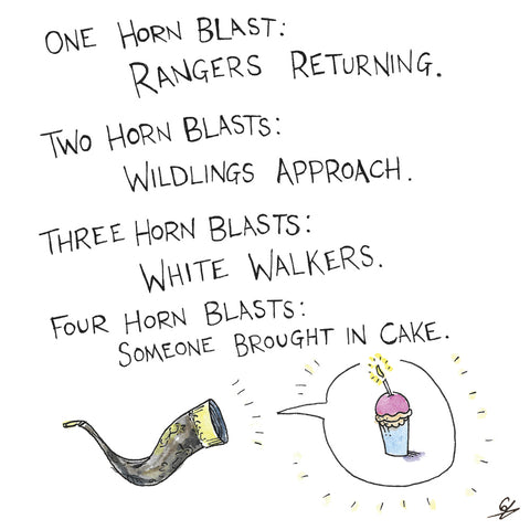 Horn Blasts Greeting Cards