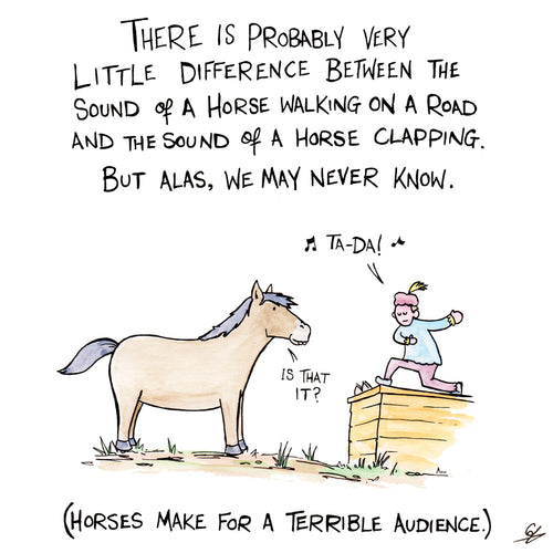 Horses make for a terrible audience.