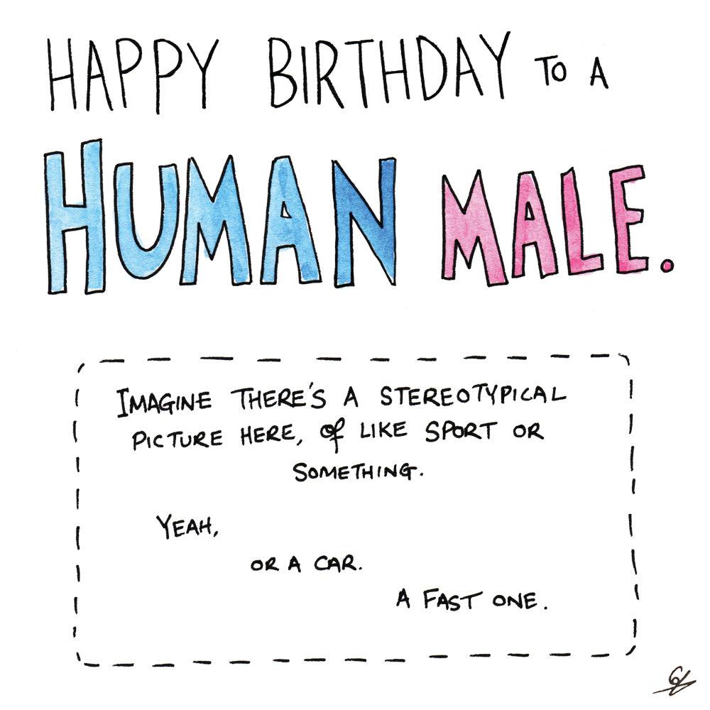 Human Male Birthday Card