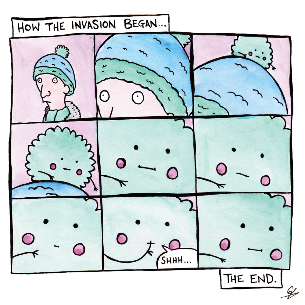 Cartoon of the Invasion of the Bobble Hats