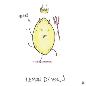 It's a Lemon Demon, a lemon with horns and a pitchfork.