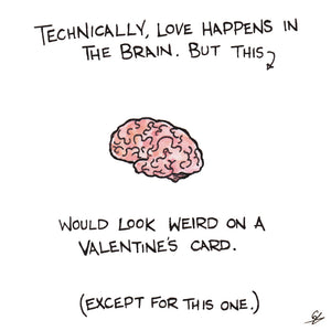 Love happens in the brain.