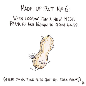 A Flying Peanut - Made Up Fact No.6: When looking for a new nest, Peanuts are known to grow wings. (Where do you think Ants got the idea from?)