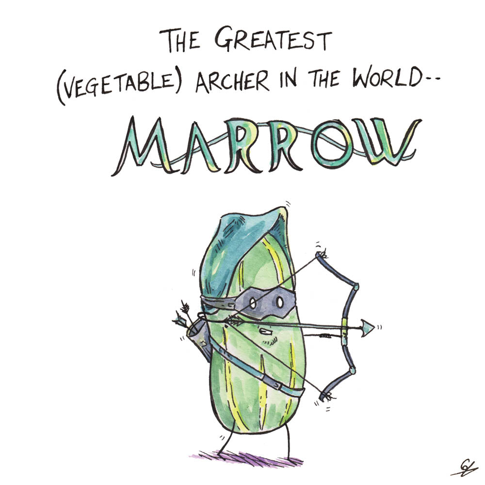 The Greatest (Vegetable) archer in the World -- Marrow