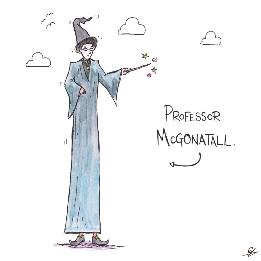 A very tall witch - Professor McGonatall.
