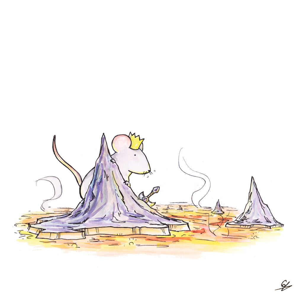 The Mouse King in a lava cave