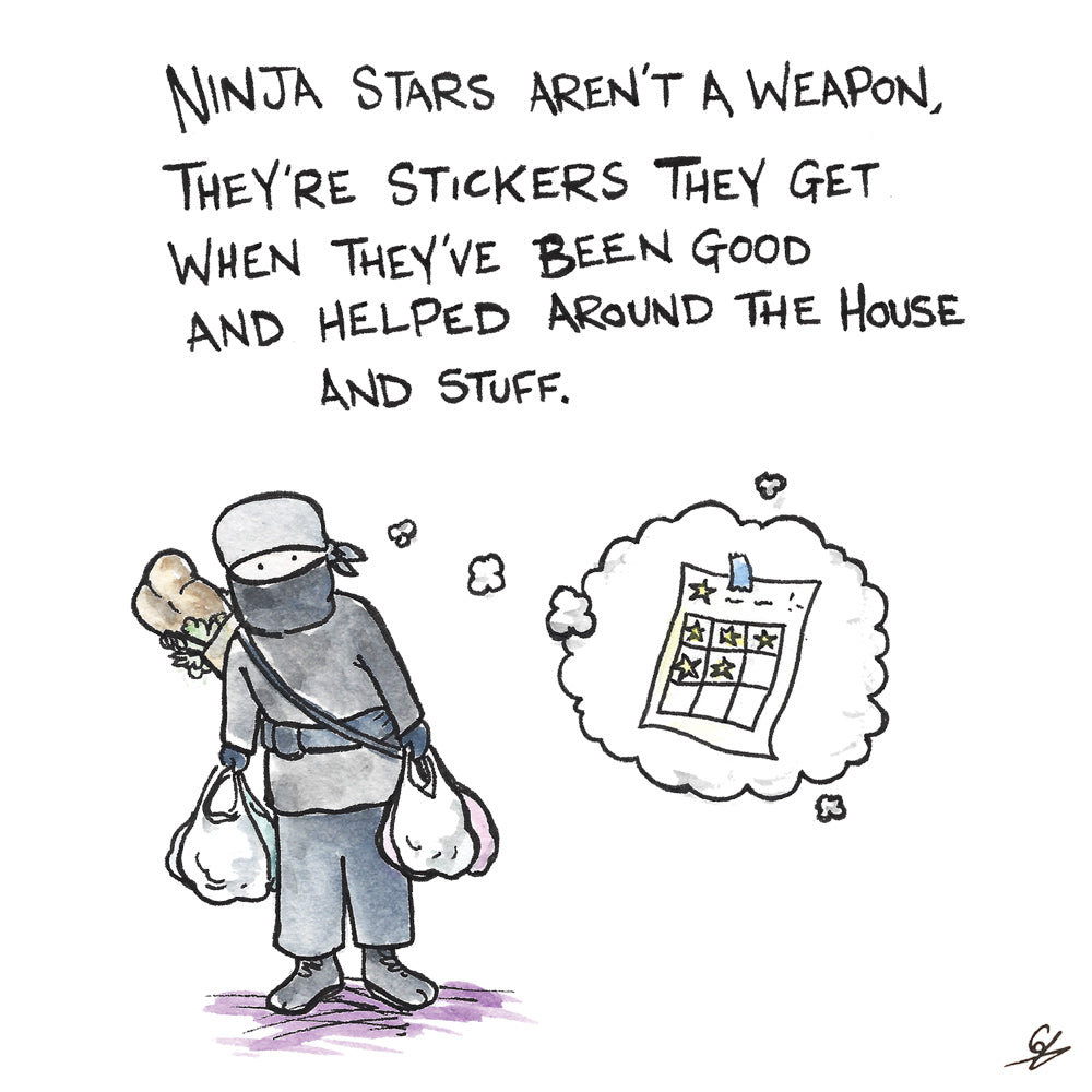 Ninja Stars are rewards for doing good things.