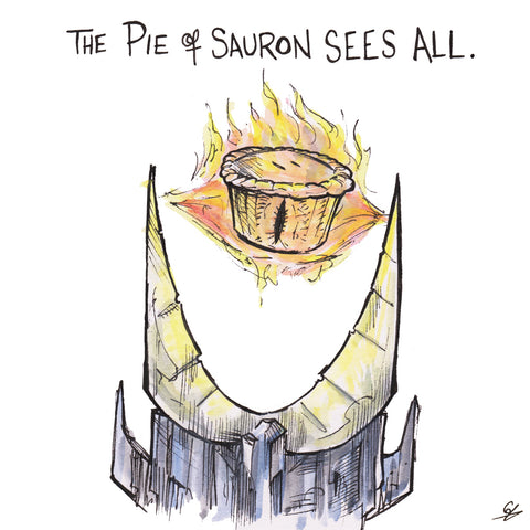 The Pie of Sauron Sees All.