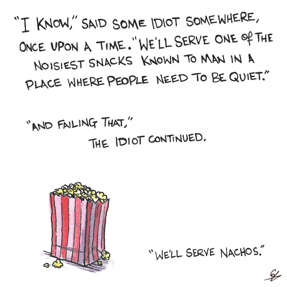 The Invention of Popcorn in Cinemas