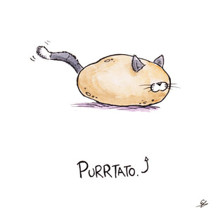 It's a Potato with whiskers, ears, and a tail. It's a Purrtato.