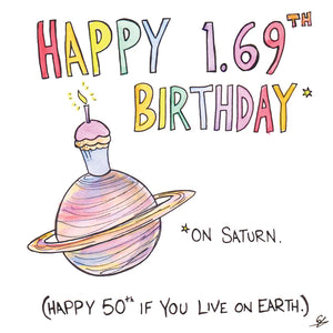 Happy 1.69th Birthday (on Saturn)