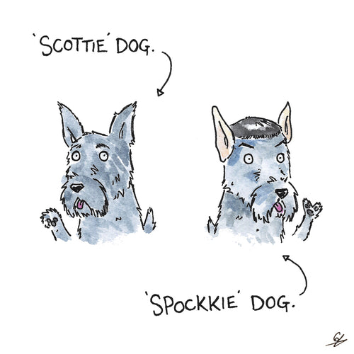 Scottie Dog, Spockkie Dog.