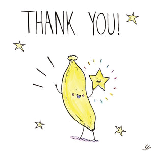It's a Banana holding a star - Thank You!