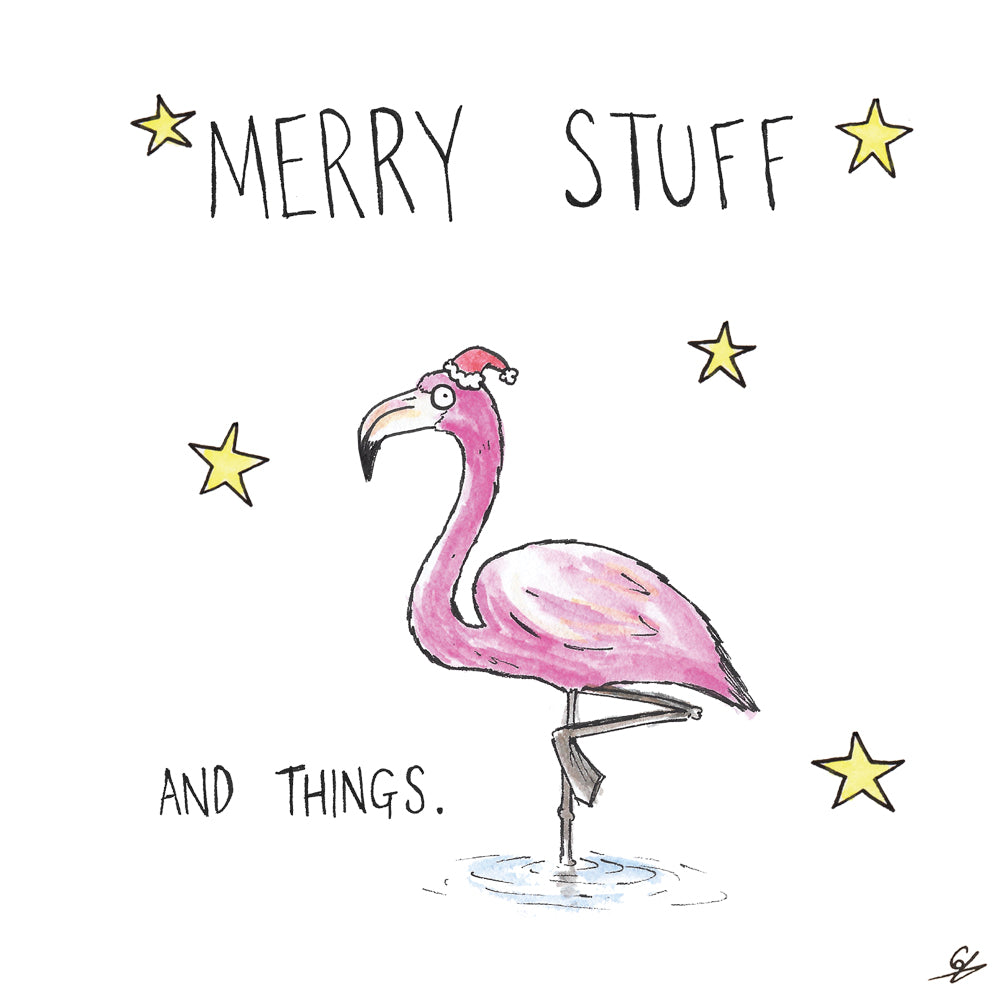 Merry Stuff and Things - With a Flamingo