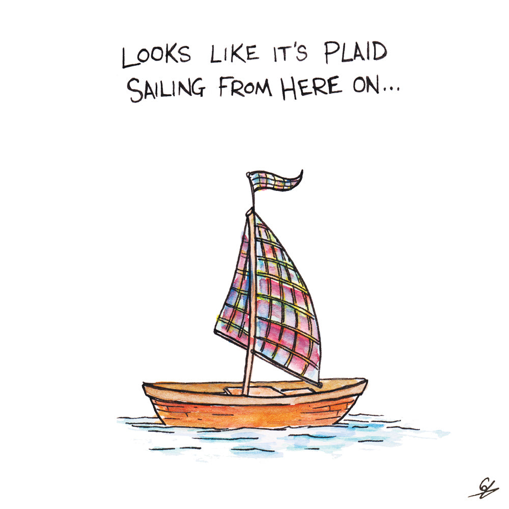 Looks like it's Plaid Sailing from here on...