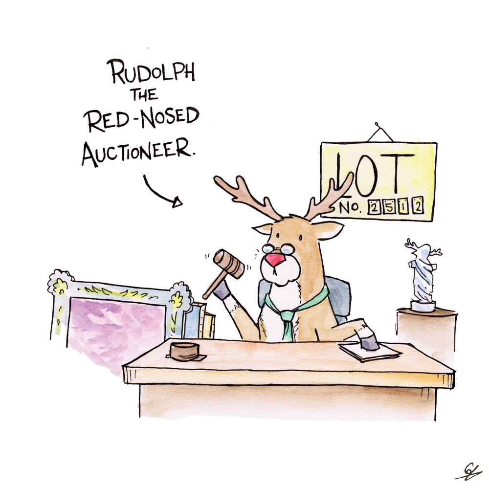 Rudolph the Red-Nosed Auctioneer.
